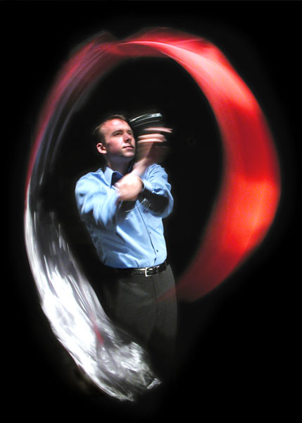 Magician Scott Jameson juggling